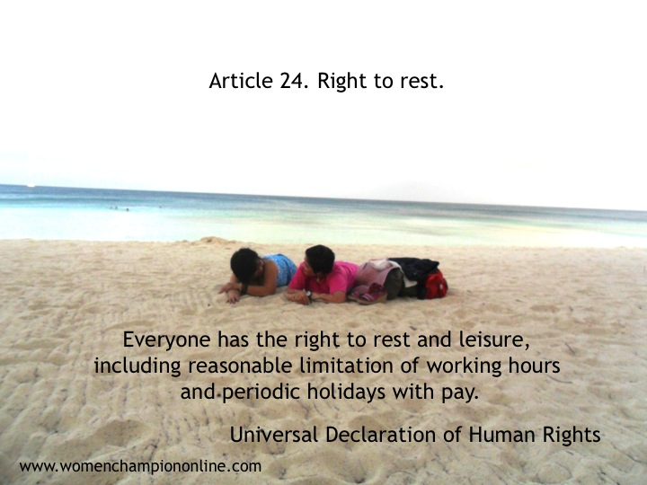 Right to Rest