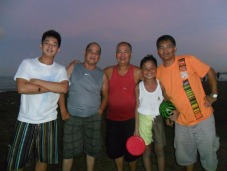 L-R: My son Paolo, hubby Biyo, dad Gil, nephew CG and brother in law Jeff on Easter Sunday at Palo Beach
