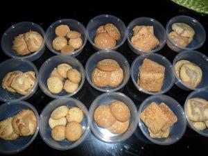 sesame, cinnamon, brown sugar, coconut cookies